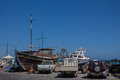 Ayia Napa, Cyprus, Fishing boats and yachts Royalty Free Stock Photo