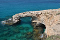 Ayia napa cyprus rock arch Royalty Free Stock Photos