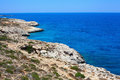 Ayia napa cyprus rocky coastline next to Stock Image