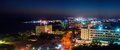 Ayia napa night city view panorama cyprus resort Royalty Free Stock Images