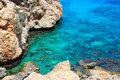 Ayia napa rocky coastline next to cyprus Stock Image