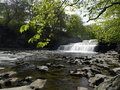 Aysgarth falls wensleydale yorkshire dales in in the in northeast england Royalty Free Stock Image