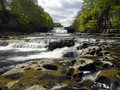 Aysgarth falls wensleydale yorkshire dales in in the in northeast england Royalty Free Stock Images