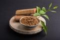 Ayurvedic chandan lape or lep or sandalwood paste Royalty Free Stock Photo