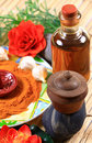 Ayurvedic skin treatment items Royalty Free Stock Images