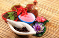 Ayurvedic spa items Royalty Free Stock Photo