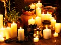 Ayurvedic spa massage still life luxury Stock Photo