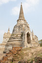 Ayuthaya historical park large stone chedi in thailand Royalty Free Stock Images