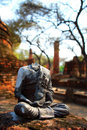Ayutthaya Beheaded Buddha Statue Stock Photos