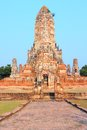 Ayutthaya historical park in thailand unesco world heritage site near bangkok buddhist temple complex wat chaiwatthanaram Stock Images