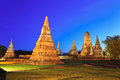 Ayutthaya historical park wat chaiwattanaram at thailand Stock Photo