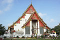 Ayutthaya thailand asia january temple viharn phra mongkon bophit on january in Royalty Free Stock Image