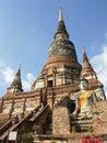 Ayutthaya thailand asia january temple wat yai chai mongkon on january in Royalty Free Stock Image