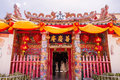 Ayutthaya, Thailand - October, 21, 2016 : The people in Wat panancherng, Jao Mae Soi Dork Mark the Chinese Shrine at Ayuttaya. Royalty Free Stock Photo