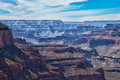 Az grand canyon national park s rim rim trail hiking the on a very overcast day was exciting waiting for a storm to Stock Photography