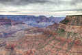 Az grand canyon national park s rim rim trail hiking the on a very overcast day was exciting waiting for a storm to Royalty Free Stock Photo