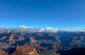 Az grand canyon national park s rim rim trail on the near bright angel lodge is where we began our night backpack in the snow Stock Photos