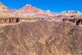 AZ-Grand Canyon-S Rim-Tonto Trail West-view of Colorado Royalty Free Stock Photo