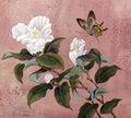 Azalea flower and butterfly