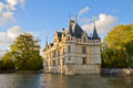Azay-le-Rideau castle, France Stock Images