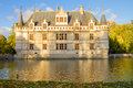 Azay-le-Rideau castle, France Stock Photos