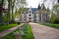 Azay-le-Rideau castle, Loire Valley, France Stock Photography