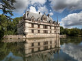 Azay le rideau castle in loire valley france Stock Image