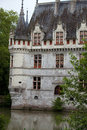 Azay le rideau castle in the loire valley france Stock Photos