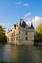 Azay-le-Rideau chateau, France Royalty Free Stock Photo