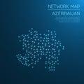 Azerbaijan network map.