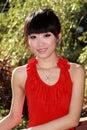 Aziatisch meisje in openlucht Royalty-vrije Stock Foto