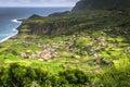 Azores coastline landscape in faja grande flores island portug portugal Royalty Free Stock Images