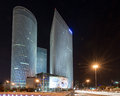 Azrieli Center Towers in Downtown Tel Aviv Royalty Free Stock Photo