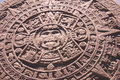 Aztec altar of the sun, Royalty Free Stock Photography