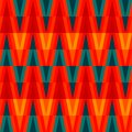 Aztec bright triangle seamless pattern Royalty Free Stock Photos