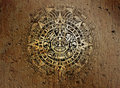 Aztec calendar on old stone Royalty Free Stock Photo