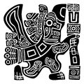 Aztec Eagle Warrior Royalty Free Stock Photo