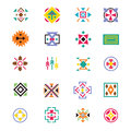 Aztec ethnicity style signs. American indian navajo art vector patterns
