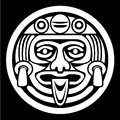Aztec face mask Stock Images