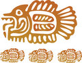 Aztec Fish Royalty Free Stock Photography