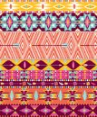 Aztec geometric seamless pattern with arrow and birds Stock Images