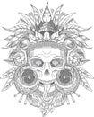 Aztec indian Skull Royalty Free Stock Photo