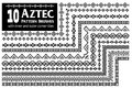 Aztec pattern brushes collection