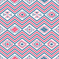 Aztec seamless color pattern vector with ancient mexican ornaments Stock Image