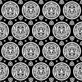 Aztec Seamless Pattern Royalty Free Stock Photos