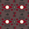 Aztec seamless pattern on brown background Stock Image