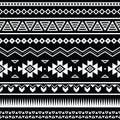 Azteca patrón negro y blanco