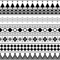 Aztec Seamless Pattern Vector. Marry christmas shape and geometry background design tribal. Aztec, Inca, Egypt, Indian,