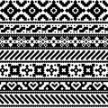 Aztec style seamless pattern Royalty Free Stock Photo