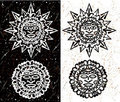 Aztec Sun and Moon Royalty Free Stock Photos
